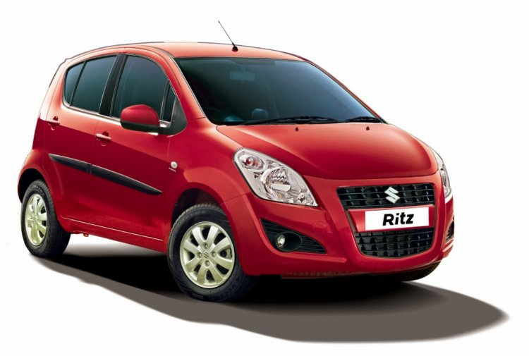 Maruti Ritz front three quarter press shot
