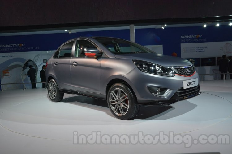 Tata Zest customized Auto Expo front quarter