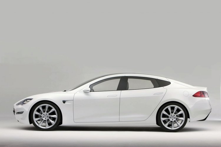 Tesla Model S side press shot