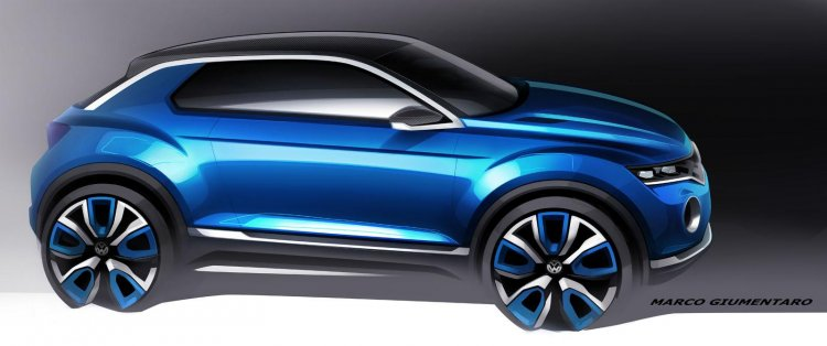 VW T-ROC Concept sketch side