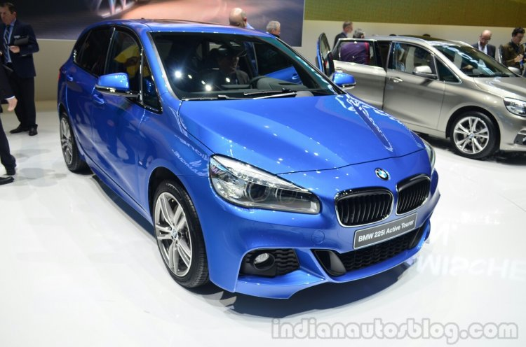 BMW 2 Series Active Tourer front three quarters at Geneva Motor Show