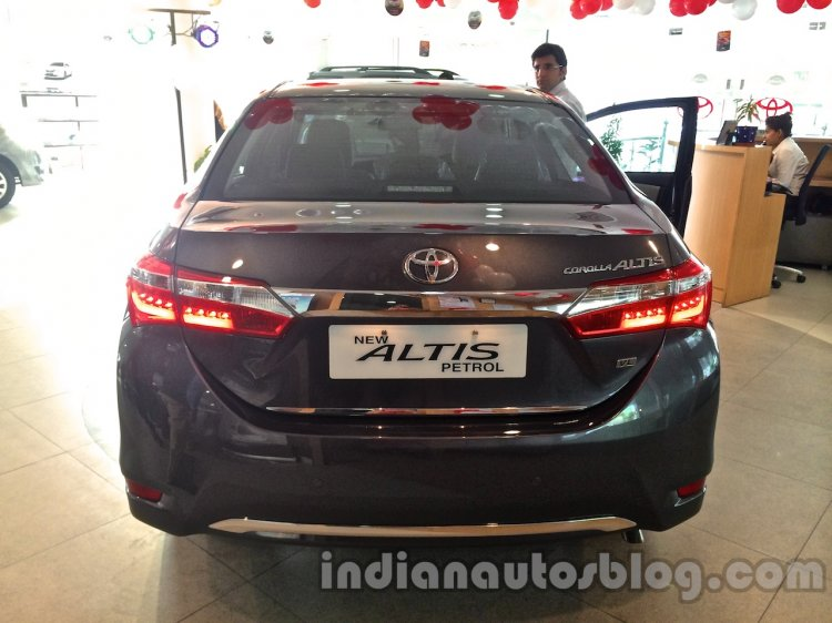 2014 Toyota Corolla spied Indian dealership rear
