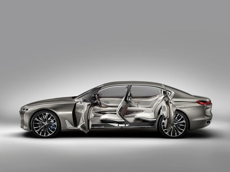 BMW Vision Future Luxury concept doors open press image