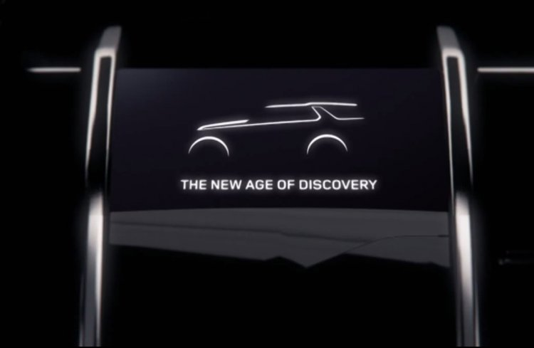 Land Rover Discovery Vision Concept press screen