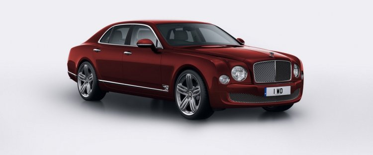Bentley Mulsanne 95 Empire Red colour press shot