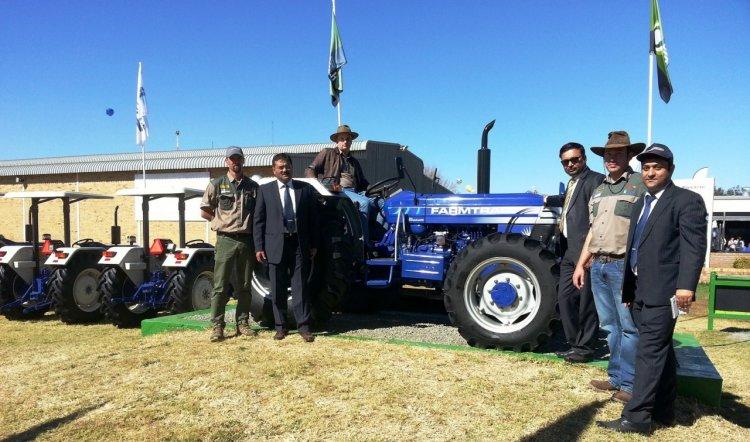 Escorts Farmtrac series South Africa launch press shot
