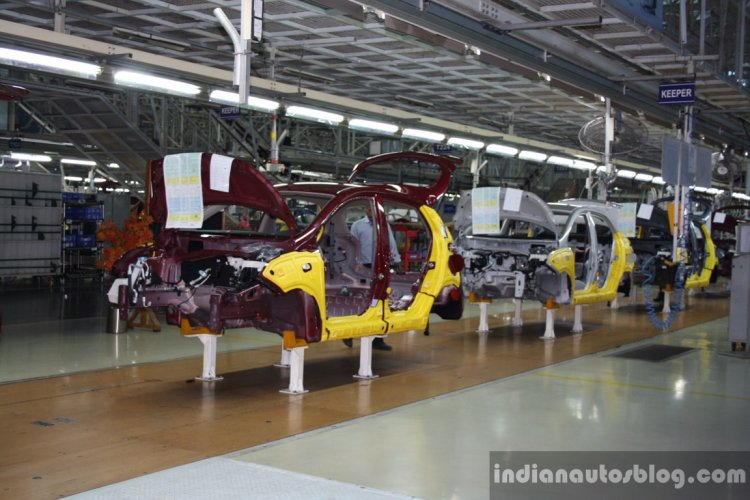 Hyundai India Chennai factory assembly line