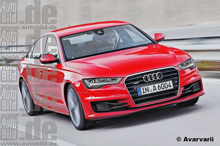 Rendering 2015 Audi A6 facelift
