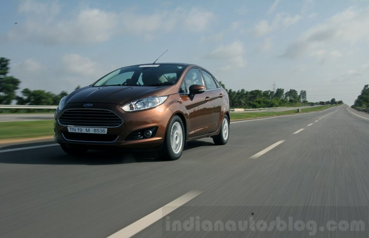2014 Ford Fiesta Facelift Review front angle shot