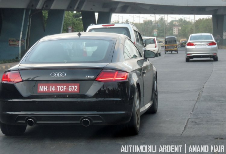 2015 Audi TT spotted Mumbai rear
