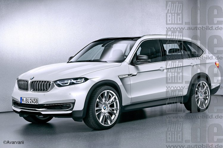 BMW X7 rendered front