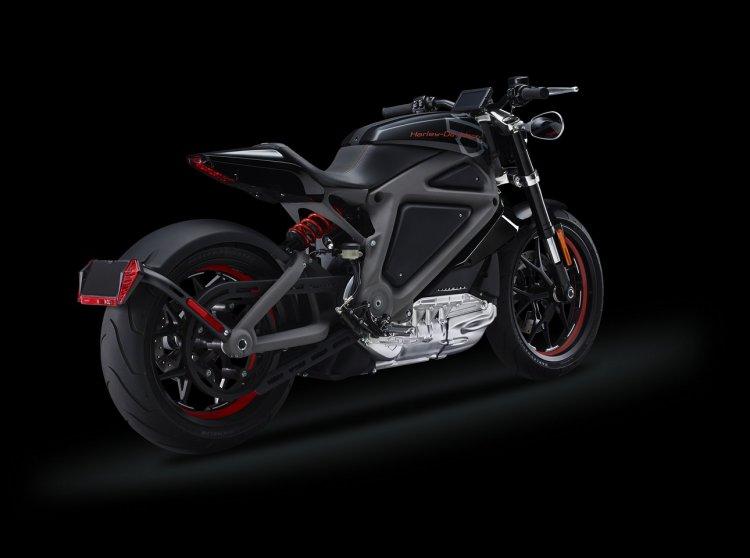 Harley Davidson Project LiveWire rear three quarters