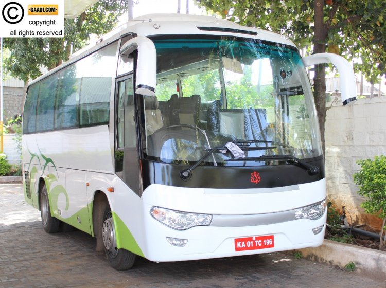 Zhongtong catch bus 8m spied in India
