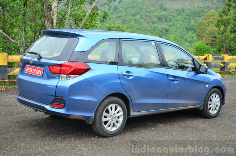 Honda Mobilio Petrol Review rear three quarter
