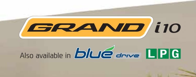 Hyundai Grand i10 LPG Blue Drive badge
