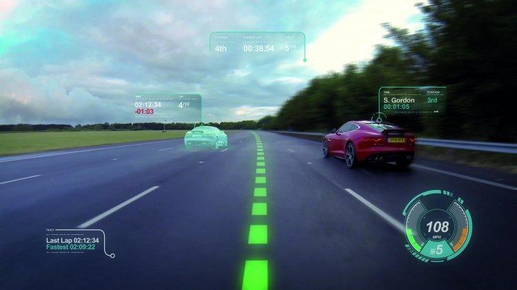 Jaguar Virtual Windscreen Technology