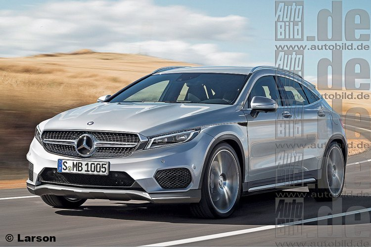Mercedes GLA Coupe rendering