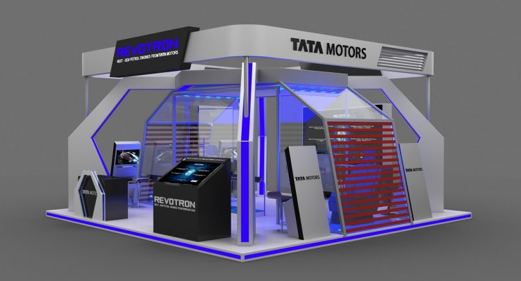 Tata Motors Revotron Lab schematic front three quarters