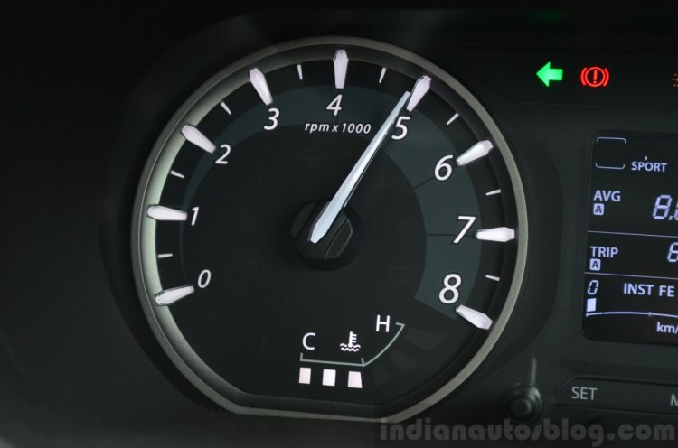 Tata Zest Revotron Petrol Review tacho