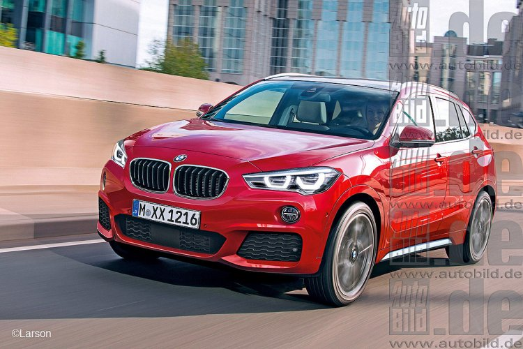 2016 BMW X1 rendering front three quarter