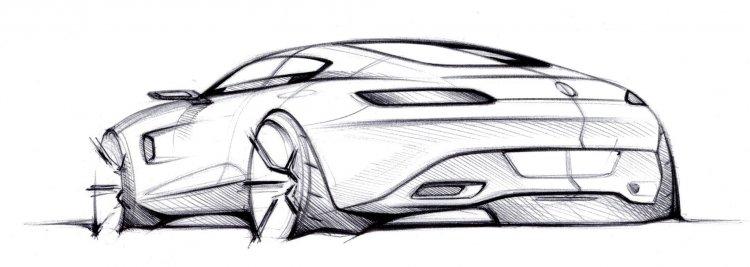 Mercedes AMG GT official sketch rear three quarter