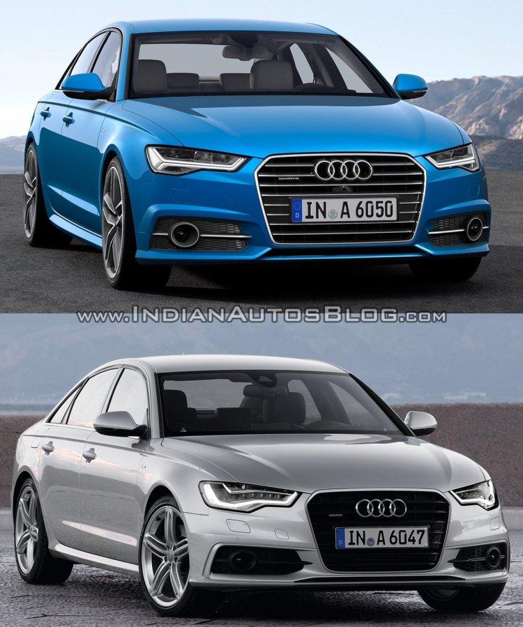 2015 Audi A6 facelift vs older model front