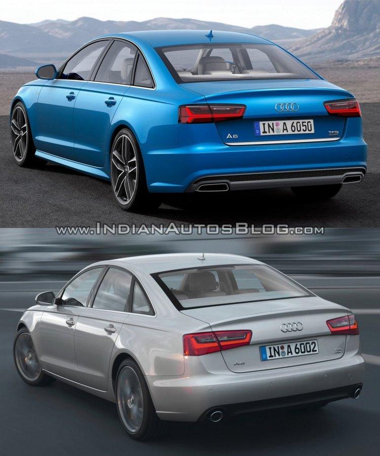 2015 Audi A6 facelift vs older model rear