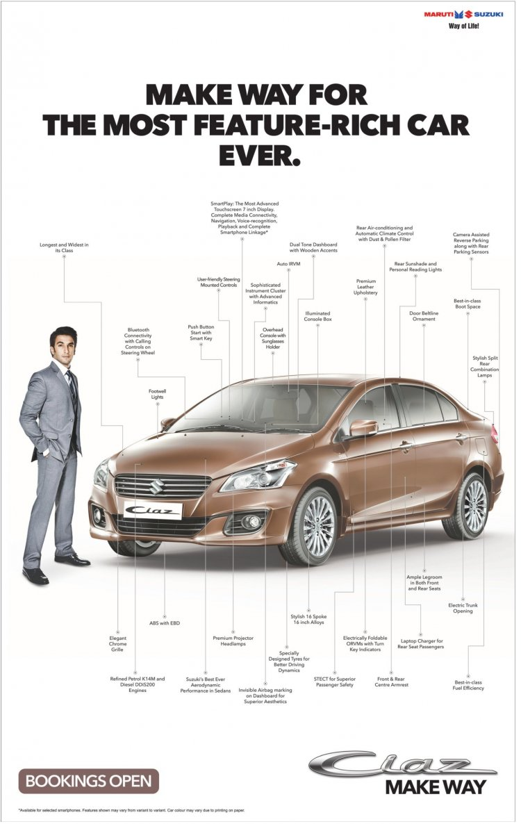Maruti Ciaz features
