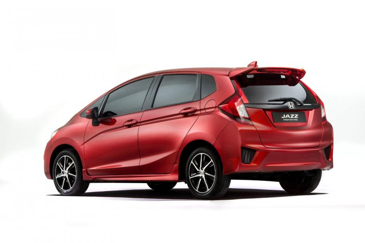 New Honda Jazz prototype Europe press shot rear