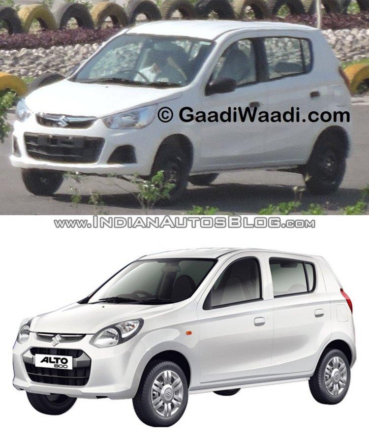 New Maruti Alto K10 facelift vs Alto 800 front