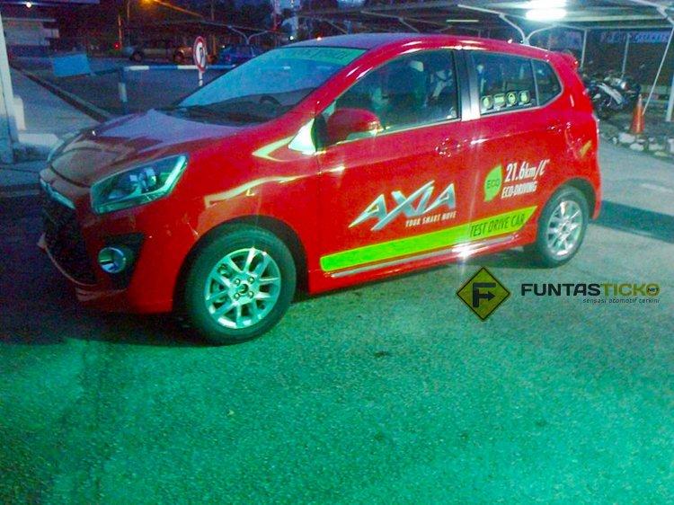 Perodua Axia spied in Malaysia Advance demo car side