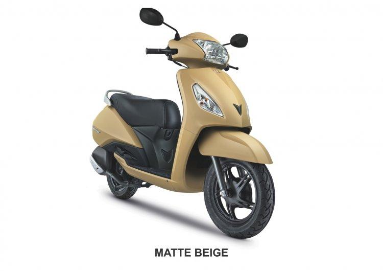 TVS Jupiter Matte Beige