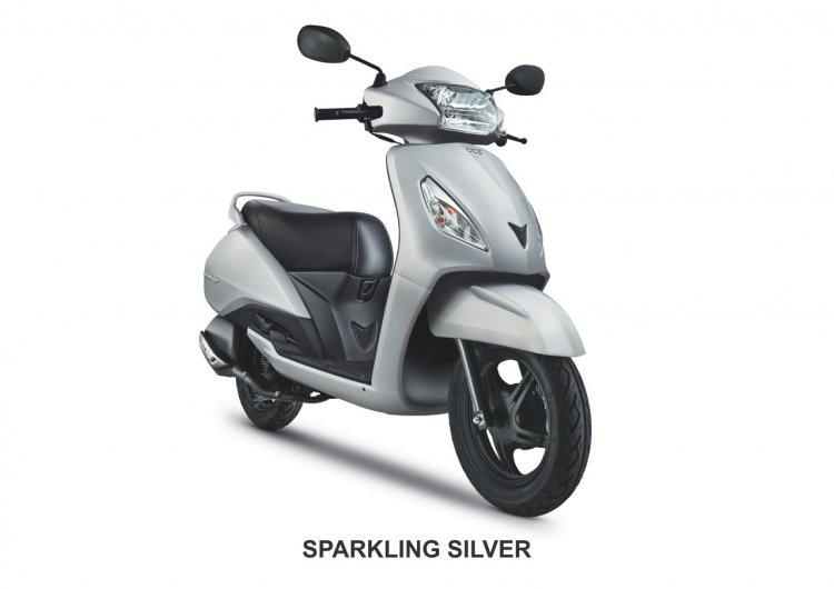 TVS Jupiter Sparkling Silver
