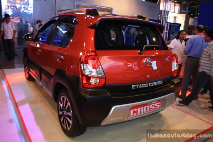 Toyota Etios Cross rear left three quarter at the 2014 NADA Auto Show Nepal