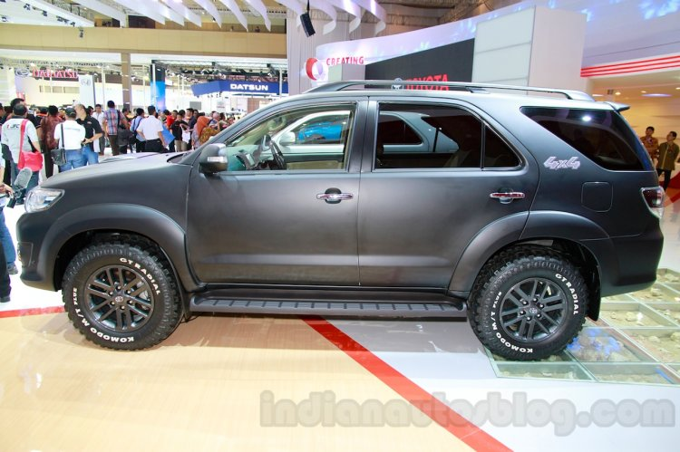 Toyota Fortuner 4X4 special Edition side at the Indonesian International Motor Show 2014