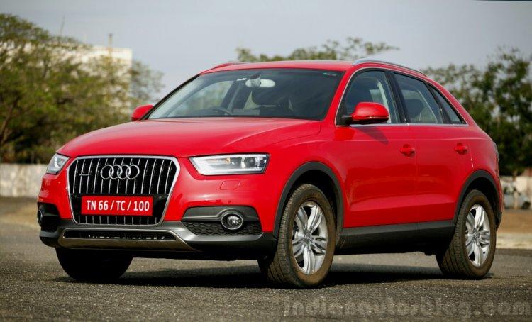 Audi Q3 Dynamic red front quarter Review