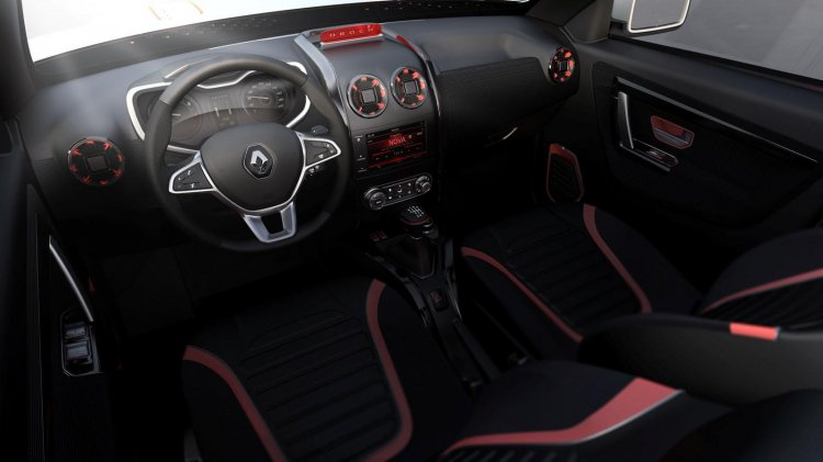 Renault Duster Oroch Concept interior press shot