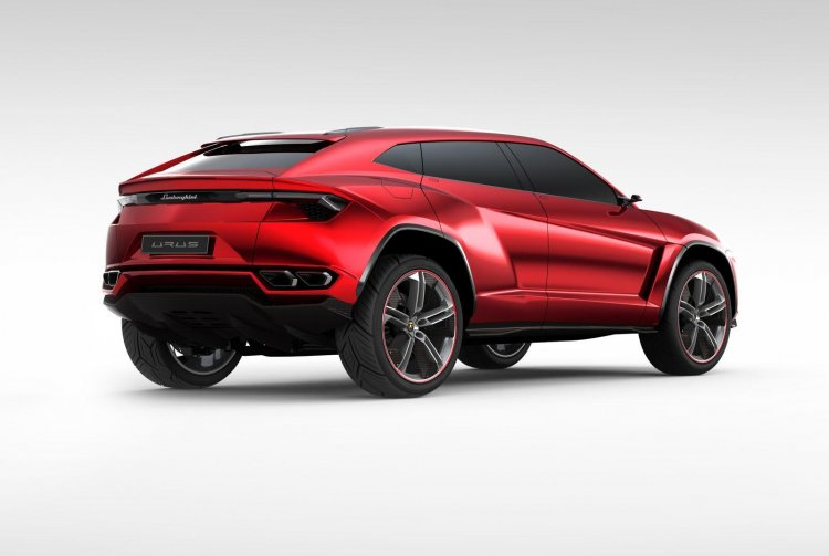 Lamborghini Urus Concept rear three quarters press image