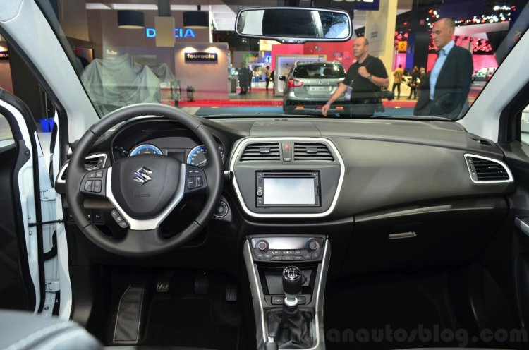 Suzuki SX4 S-Cross dashboard at the 2014 Paris Motor Show
