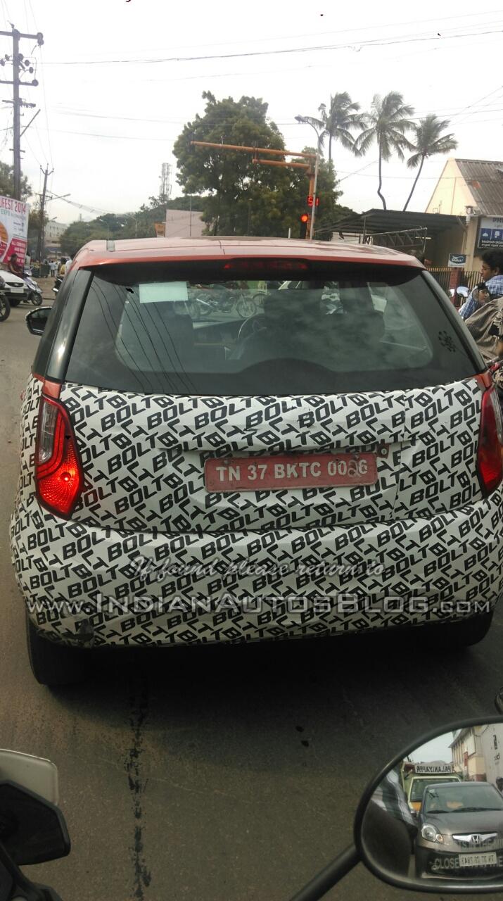 Tata Bolt rear spied Coimbatore