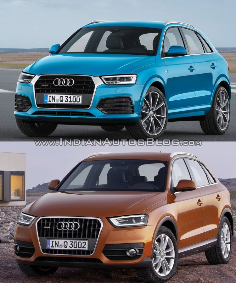 2015 Audi Q3 facelift vs older model front