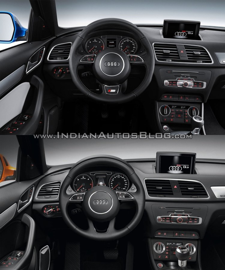 2015 Audi Q3 facelift vs older model interior
