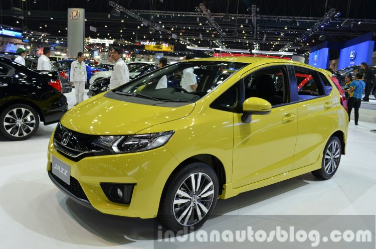 Honda Jazz front three quarters at the 2014 Thailand International Motor Expo