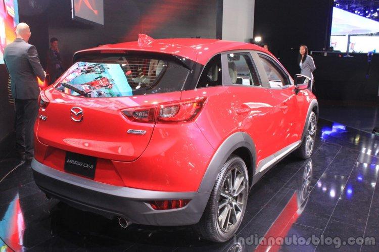 Mazda CX-3 rear three quarters at the 2014 Los Angeles Auto Show