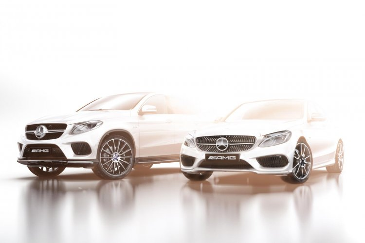 Mercedes AMG Sport range teaser with C Class and GLE