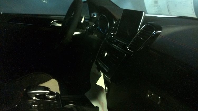 Mercedes GLE Coupe AMG interior spied
