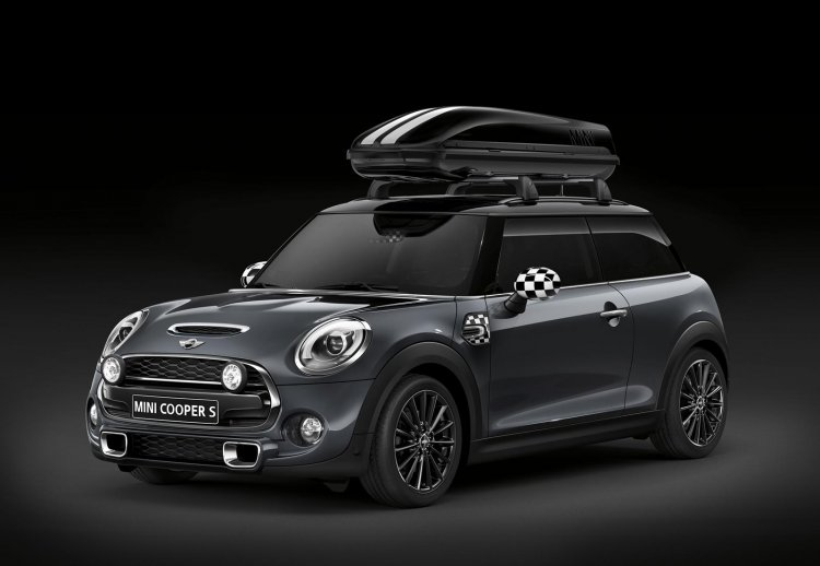 New Mini Cooper S with John Cooper Works package roof canopy