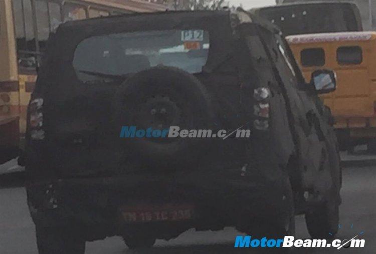 2015 Mahindra Bolero U301 spied rear