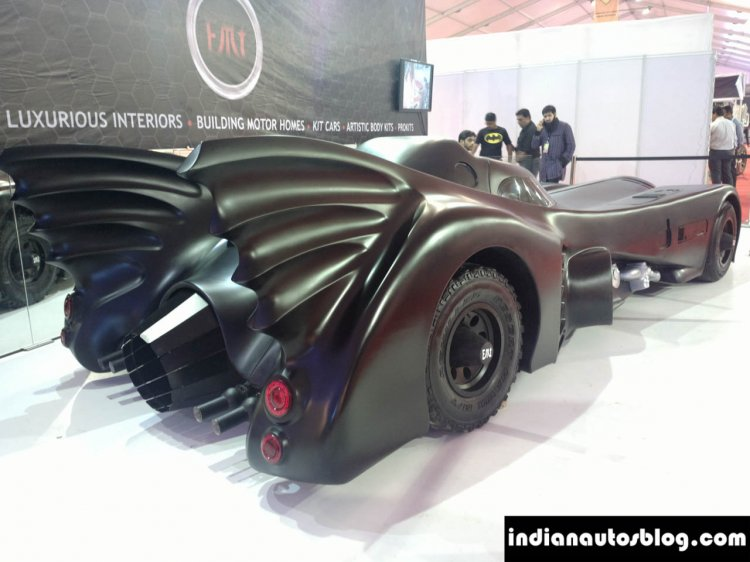Batmobile Replica by EMT rear three quarter at APS 2014
