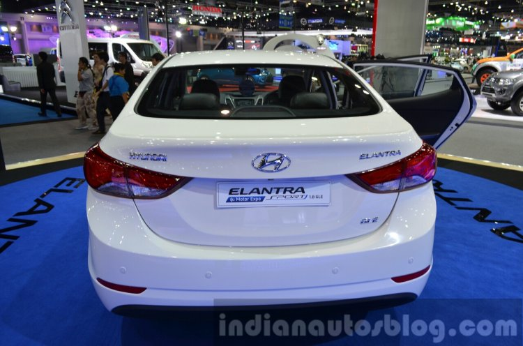 Hyundai Elantra facelift rear at the 2014 Thailand International Motor Expo